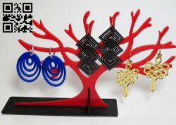 Jewelry tree E0014981 file cdr and dxf free vector download for laser cut