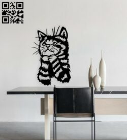Kitten wall decor E0015021 file cdr and dxf free vector download for laser cut plasma