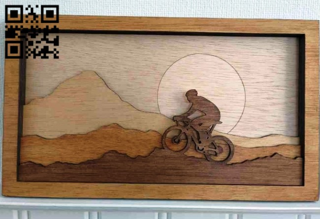 Layered biker E0014865 file cdr and dxf free vector download for laser cut