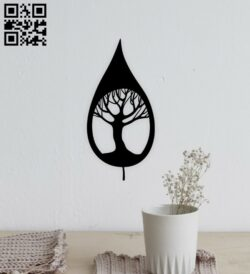 Leaf wall decor E0014942 file cdr and dxf free vector download for laser cut