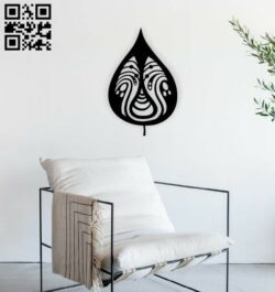 Leaf wall decor E0014943 file cdr and dxf free vector download for laser cut plasma