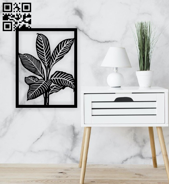 Leaves wall decor E0015057 file cdr and dxf free vector download for laser cut plasma