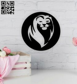Lion E0014961 file cdr and dxf free vector download for laser cut plasma