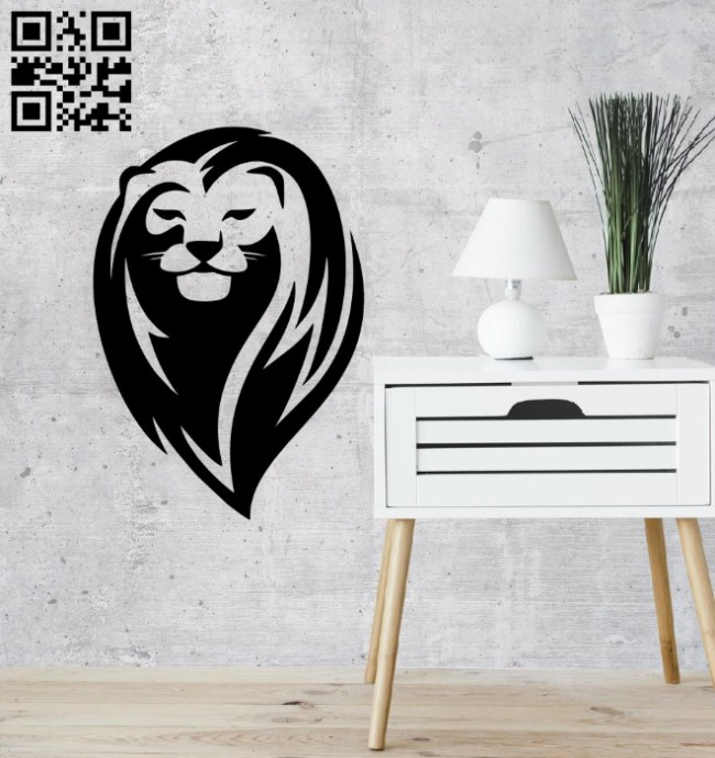 Lion E0014962 file cdr and dxf free vector download for laser cut plasma