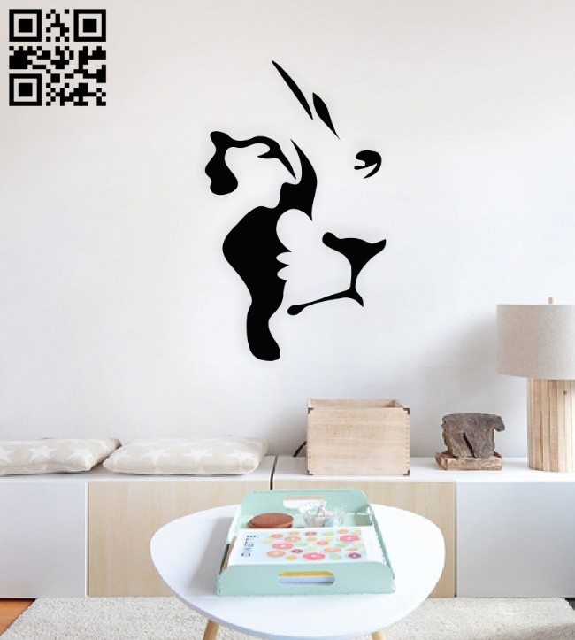 Lion E0015081 file cdr and dxf free vector download for laser cut plasma