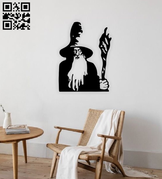 Lord of the Rings wall decor E0014893 file cdr and dxf free vector download for laser cut plasma