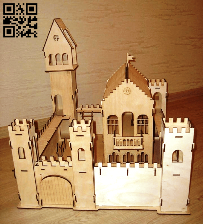 Medieval castle E0014906 file cdr and dxf free vector download for laser cut