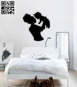 Motherhood wall decor E0015074 file cdr and dxf free vector download for laser cut plasma