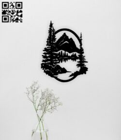 Mountain E0014953 file cdr and dxf free vector download for laser cut plasma
