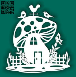 Mushroom house E0014988 file cdr and dxf free vector download for laser cut plasma