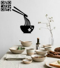 Noodle food wall decor E0015059 file cdr and dxf free vector download for laser cut plasma