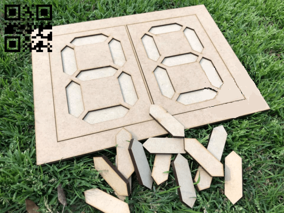 Number build board E0015063 file cdr and dxf free vector download for laser cut