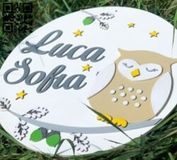 Owl wall decor E0014991 file cdr and dxf free vector download for laser cut