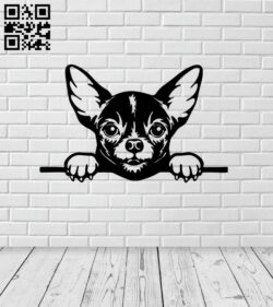 Peeking dog E0015024 file cdr and dxf free vector download for laser cut plasma