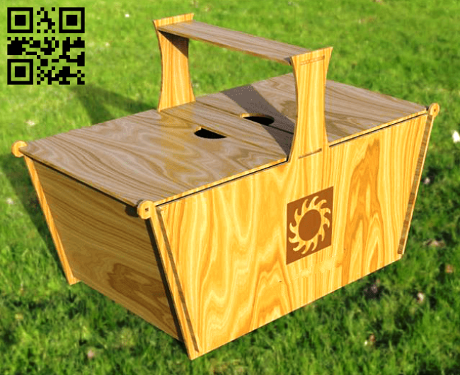 Picnic basket E0015065 file cdr and dxf free vector download for laser cut