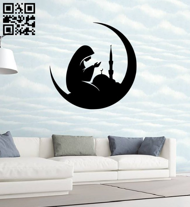 Pray wall decor E0014913 file cdr and dxf free vector download for laser cut plasma