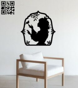 Princess wall decor E0015070 file cdr and dxf free vector download for laser cut plasma