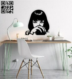 Pulp fiction E0015023 file cdr and dxf free vector download for laser cut plasma