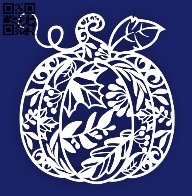 Pumpkin E0014989 file cdr and dxf free vector download for laser cut