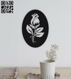 Rose E0014920 file cdr and dxf free vector download for laser cut plasma