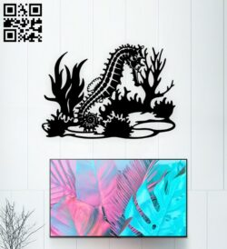 Seahorse E0015027 file cdr and dxf free vector download for laser cut plasma