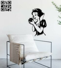 Snow white wall decor E0014874 file cdr and dxf free vector download for laser cut plasma