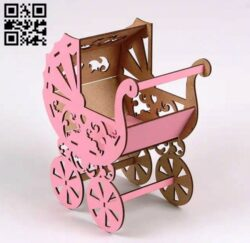Stroller E0014898 file cdr and dxf free vector download for laser cut