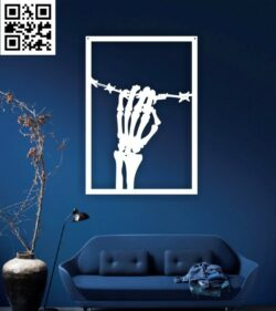 Tableau skull wall decor E0014890 file cdr and dxf free vector download for laser cut plasma