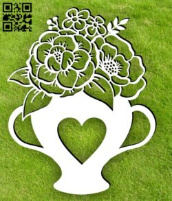 Tea with flowers E0015047 file cdr and dxf free vector download for laser cut plasma