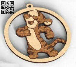 Tiger E0014969 file cdr and dxf free vector download for laser cut