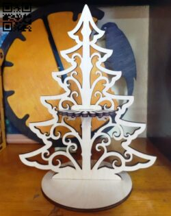 Tree napkin holder E0014990 file cdr and dxf free vector download for laser cut