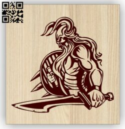 Viking Warrior E0014881 file cdr and dxf free vector download for laser engraving machine