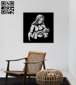 Virgin Mary and Baby Jesus E0014946 file cdr and dxf free vector download for laser engraving machine