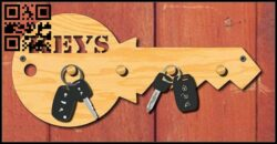 Wall key hanger E0015038 file cdr and dxf free vector download for laser cut