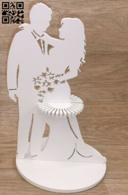 Wedding napkin holder E0015001 file cdr and dxf free vector download for laser cut