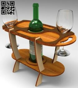 Wine stand E0015077 file cdr and dxf free vector download for laser cut