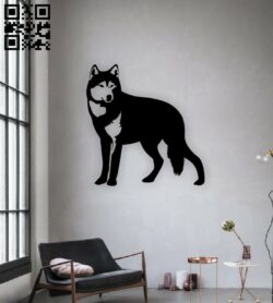 Wolf wall decor E0015068 file cdr and dxf free vector download for laser cut plasma