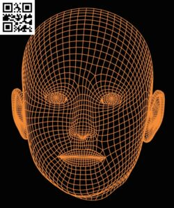3D illusion led lamp Face E0015193 file cdr and dxf free vector download for laser engraving machine