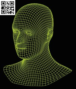 3D illusion led lamp Head E0015196 file cdr and dxf free vector download for laser engraving machine