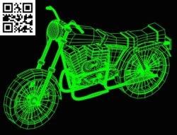 3D illusion led lamp Motorcycle E0015192 file cdr and dxf free vector download for laser engraving machine