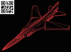 3D illusion led lamp Plane E0015157 file cdr and dxf free vector download for laser engraving machine