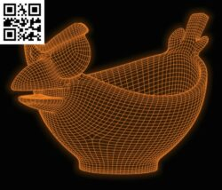 3D illusion led lamp basket E0015153 file cdr and dxf free vector download for laser engraving machine