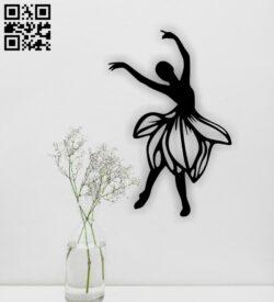 Ballet dancer E0015213 file cdr and dxf free vector download for laser cut plasma
