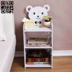 Bear shelf E0015143 file cdr and dxf free vector download for laser cut