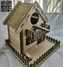Bird house E0015122 file cdr and dxf free vector download for laser cut