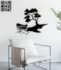 Boat tree E0015171 file cdr and dxf free vector download for laser cut plasma