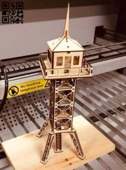 Border surveillance tower E0015120 file cdr and dxf free vector download for laser cut