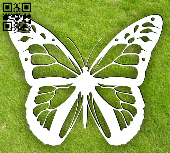 Butterfly E0015095 file cdr and dxf free vector download for laser cut plasma