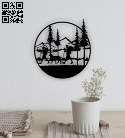 Camping wall decor E0015214 file cdr and dxf free vector download for laser cut plasma