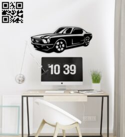 Car wall decor E0015169 file cdr and dxf free vector download for laser cut plasma